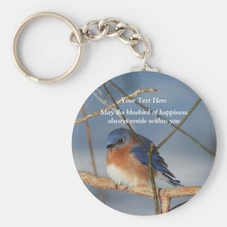 Bluebird del llavero inspirado de la felicidad
