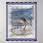 Bluebird del poster del boda de la naturaleza de l