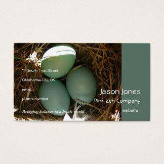 Bluebird Eggs times three Business Card