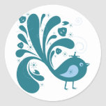 bluebird elegante pegatinas
