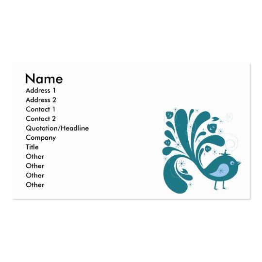 bluebird elegante tarjetas de visita