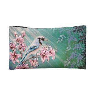 Bluebird en bolso del árbol del lirio