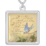 Bluebird en el collar de la cita de Victor Hugo de