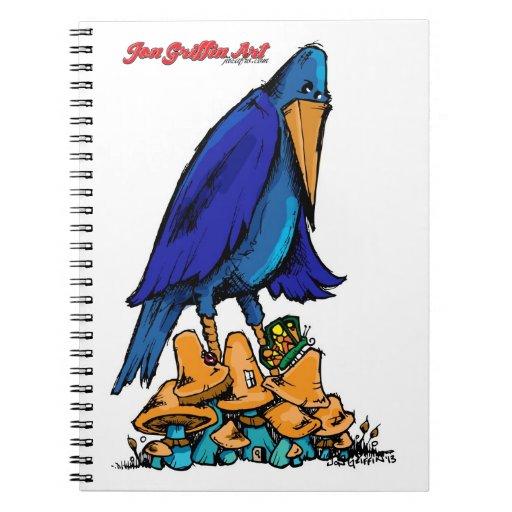 Bluebird en remiendo de la seta del te notebook