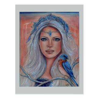 Bluebird fae postcards by Renee Lavoie