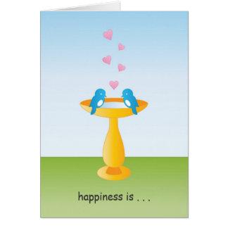 Bluebird Happiness Greeting Card
