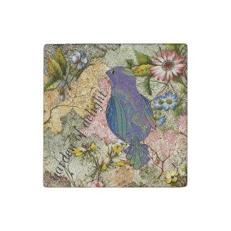Bluebird in a Garden of Delight Stone Magnet