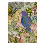 Bluebird in a Garden Stationery Note Card