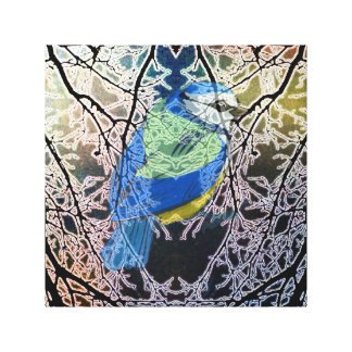Bluebird in a Tree Canvas Print