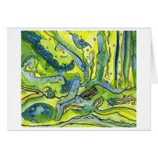 Bluebird in forest card