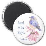 Bluebird inspirado del 40:10 de Isaías de la escri Imán Redondo 5 Cm