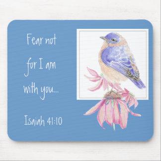 Bluebird inspirado del 40:10 de Isaías de la escri Tapetes De Ratón