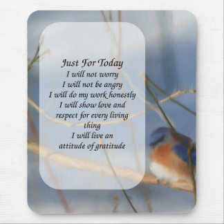 Bluebird Just For Today Inspirational Mousepad