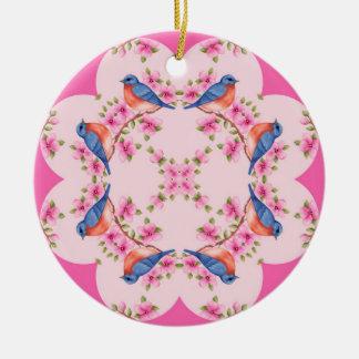 Bluebird Kaleidoscope Ornament