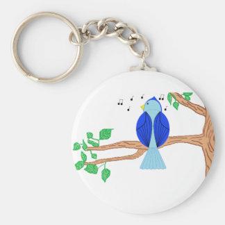 Bluebird Basic Round Button Keychain