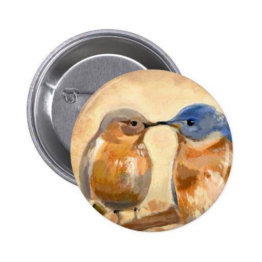 Bluebird Kiss Buttons