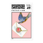 Bluebird Letter Happiness Postage Stamps