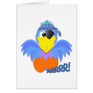 Bluebird lindo del pirata de Goofkins Felicitacion