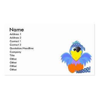 Bluebird lindo del pirata de Goofkins Tarjetas De Visita