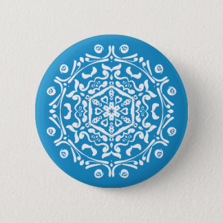 Bluebird Mandala Button