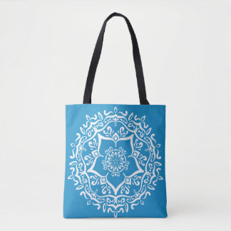 Bluebird Mandala Tote Bag