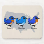 Bluebird Map Mouse Pad