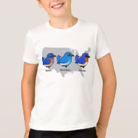 Bluebird Map Kids' American Apparel Fine Jersey T-Shirt