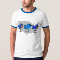 Bluebird Map Men's Basic Ringer T-Shirt