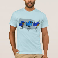 Bluebird Map Men's Basic American Apparel T-Shirt