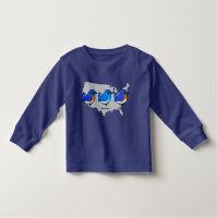 Bluebird Map Toddler Long Sleeve T-Shirt