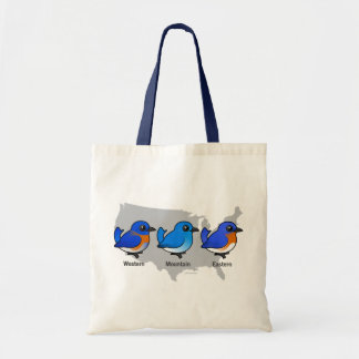 Bluebird Map Tote Bag