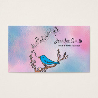 Bluebird Music Teacher Business Card