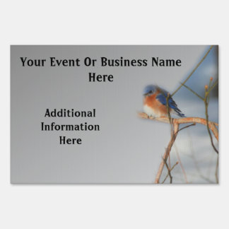 Bluebird Nature Business Or Event Yard Sign