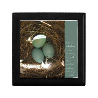 Bluebird Nest w/ Buddha Quote Gift Box