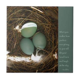 Bluebird Nest w/ Buddha Quote Tile