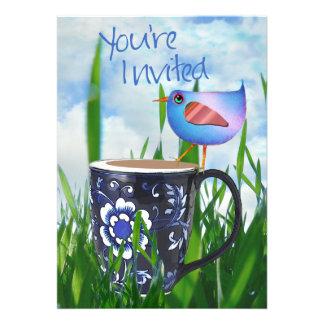 Bluebird of Coffee Happiness Invitation