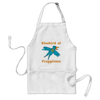 Bluebird of Crappiness Adult Apron