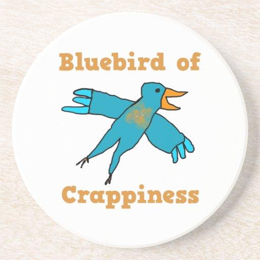 Bluebird of Crappiness Beverage Coaster