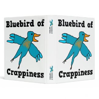 Bluebird of Crappiness Binder