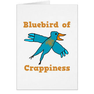 Bluebird of Crappiness Stationery Note Card