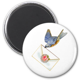 Bluebird of Happiness 2 Inch Round Magnet