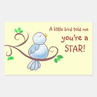 Bluebird Of Happiness Achievement Award Rectangular Sticker