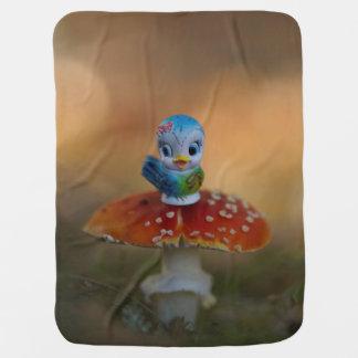 Bluebird of Happiness Baby Blanket