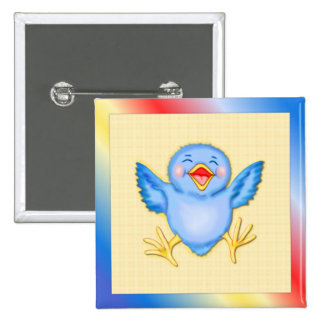 Bluebird of Happiness Pinback Button