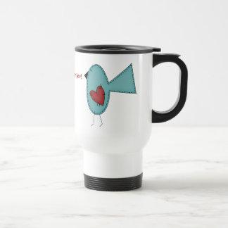 Bluebird of Happiness by SRF Travel Mug
