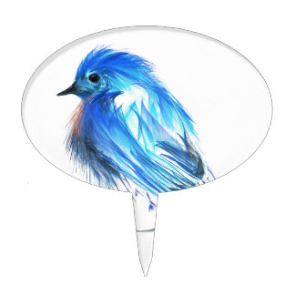 Bluebird of happiness cake topper