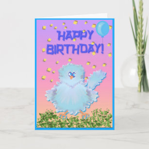 Bluebird birthday cards zazzle bluebird of happiness card m4hsunfo