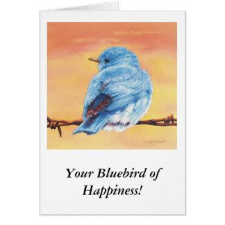 Bluebird of Happiness Card
