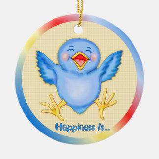 Bluebird of Happiness Ceramic Ornament