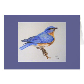 Bluebird of Happiness greeting card